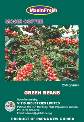 green coffee beans from Papua New Guinea