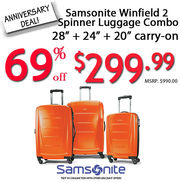 Get 69% off on Samsonite Luggage in Canada @ Luggage City