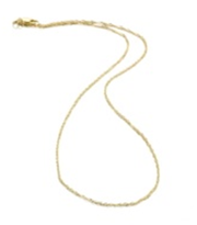 1mm Singapore Chain Necklace in 14k Yellow Gold